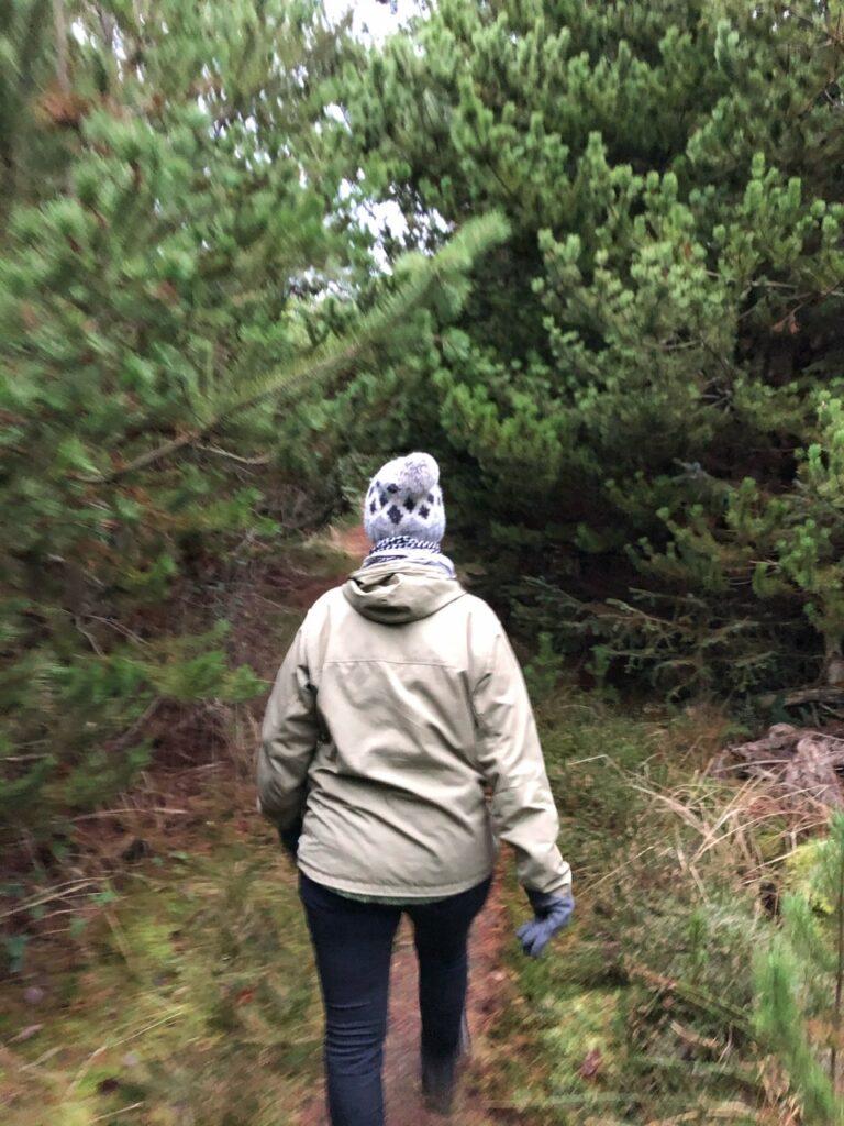 Hanne i skov tæt ved Skiveren Kandestederne
