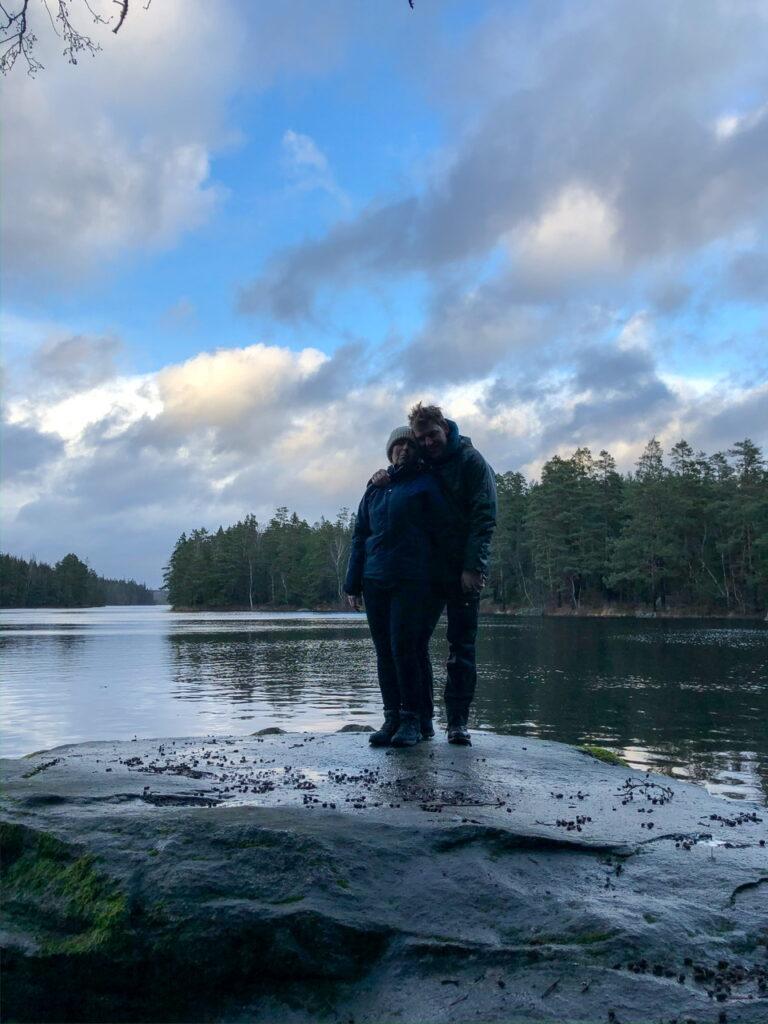Hanne og Danny ved Store Kronsjön