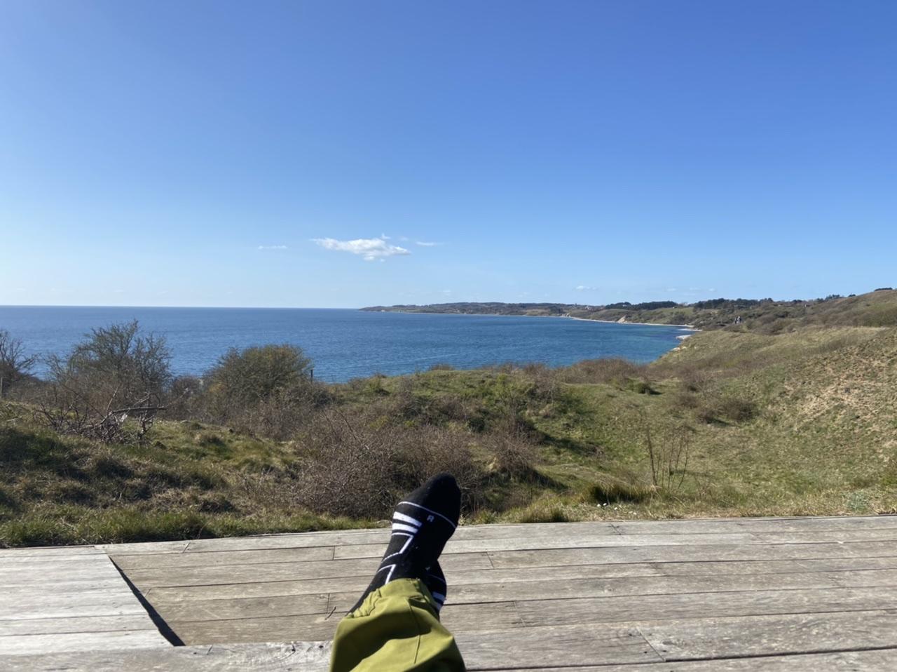 Pause ved Kolstrup klint