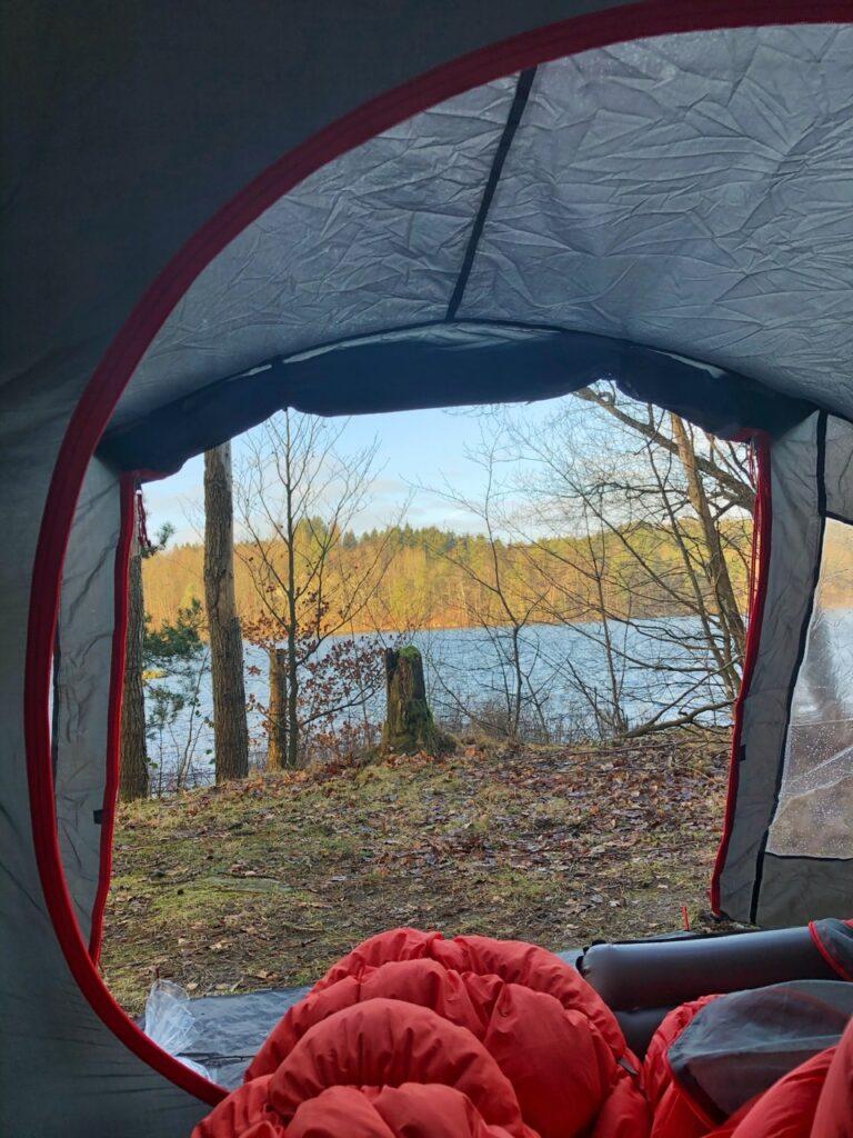 Udsigt fra teltet